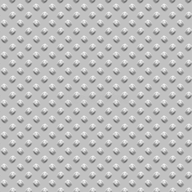 Chrome rivets. Metallic background of chrome rivets stock illustration