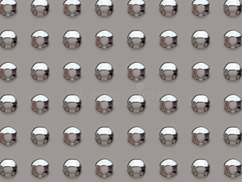 Chrome rivets. Abstract shiny chrome rivets background stock illustration