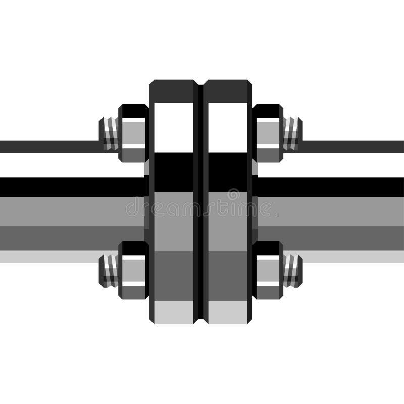 Chrome-Rohrflansch lizenzfreie abbildung