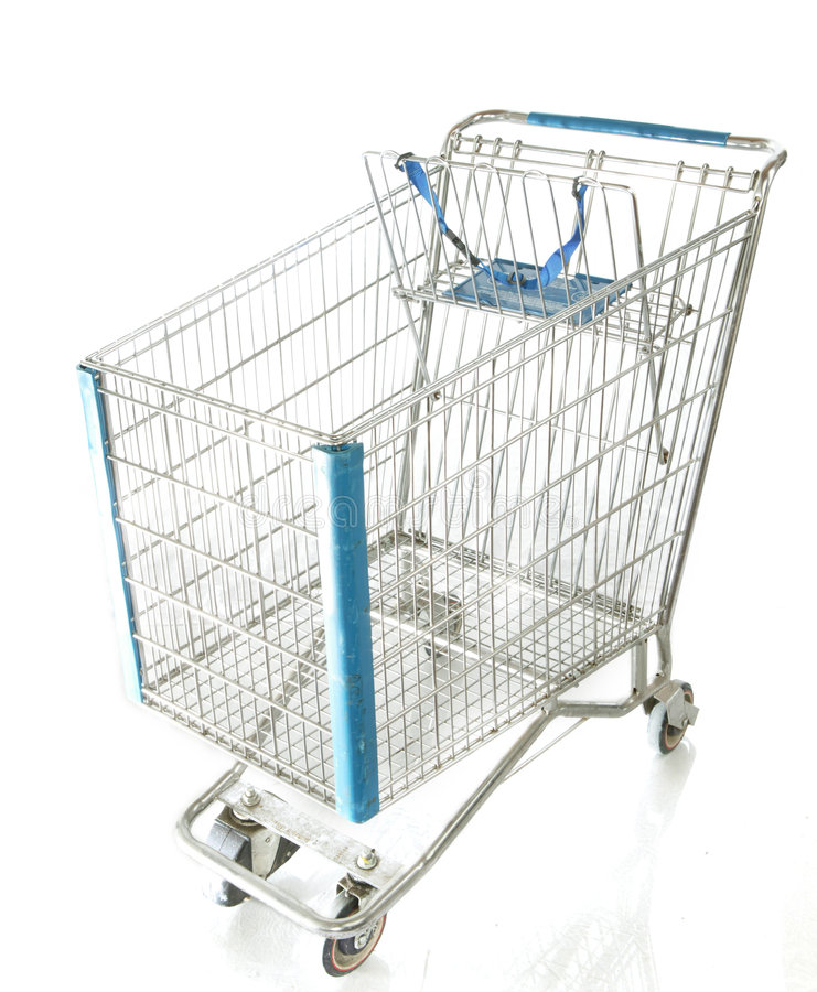 Chrome Shopping Cart royalty free stock images