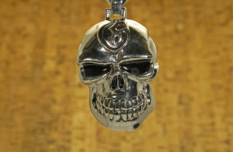 Chrome Skull stock photography