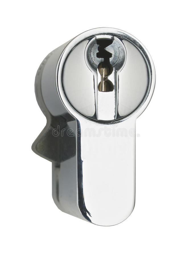 Download Chrome Steel Door Lock Mechanism Stock Photo - Image: 33508202