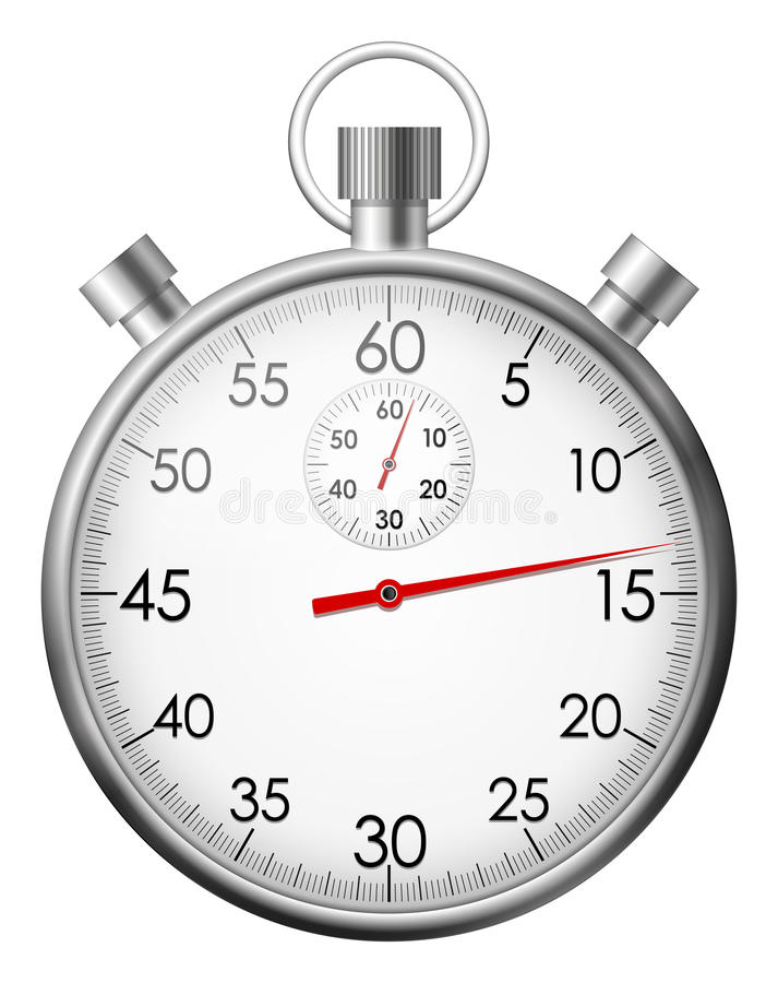 Chrome stop watch royalty free illustration
