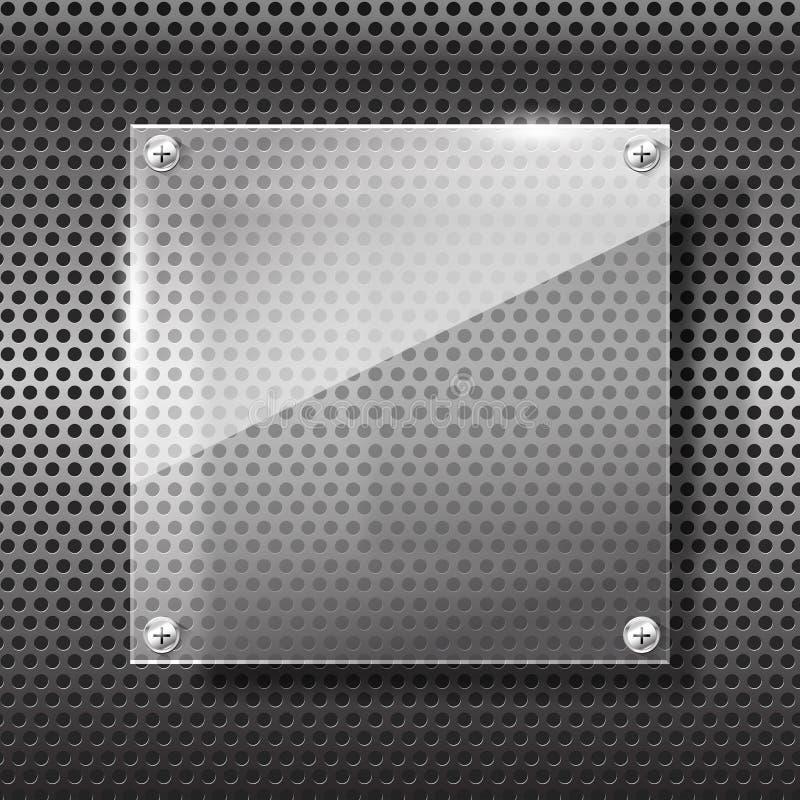 Chrome svart och grå bakgrundstextur 003 vektor illustrationer