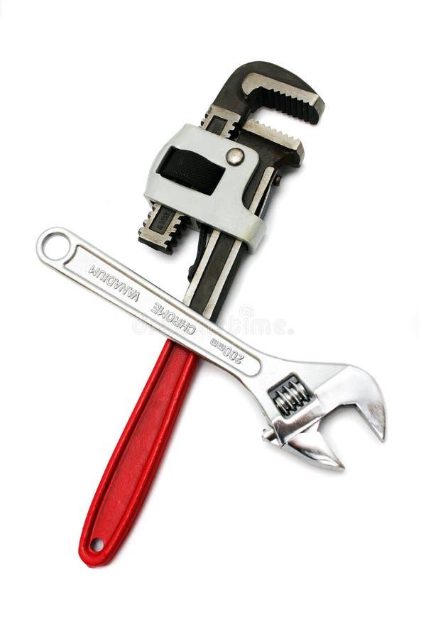 Free Chrome Vanadium & Pipe Wrench Royalty Free Stock Images - 9811909