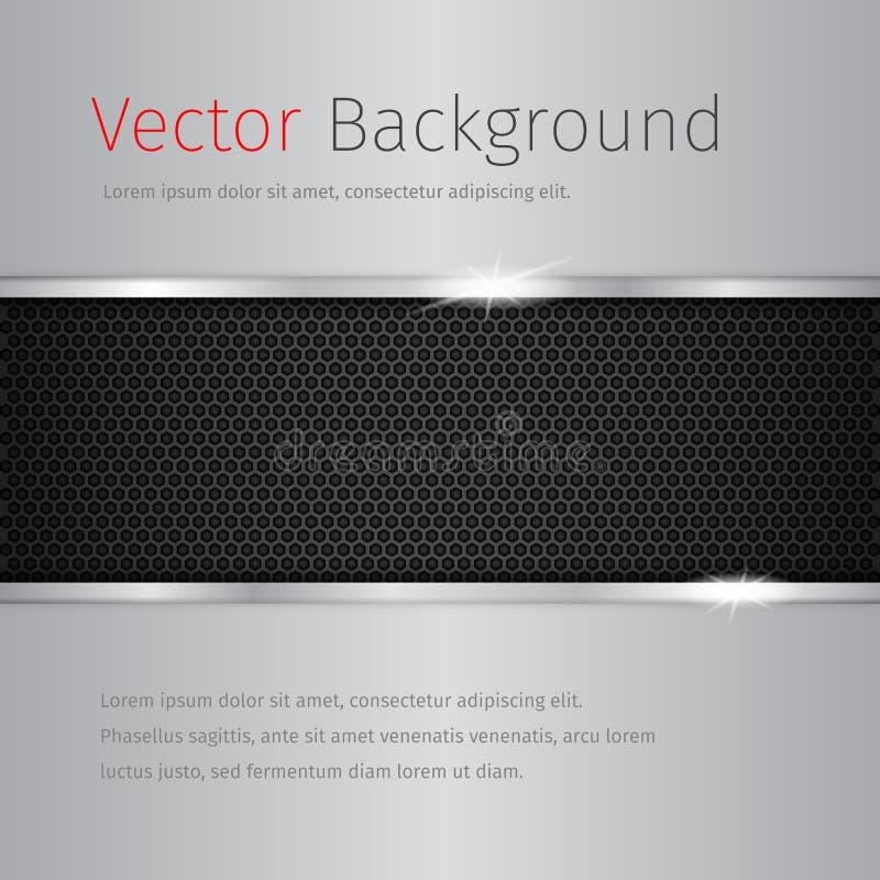 Chrome vektorbakgrund med den mörka modellen royaltyfri illustrationer
