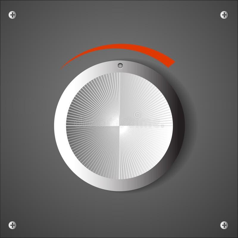 Chrome Volume Knob Stock Image