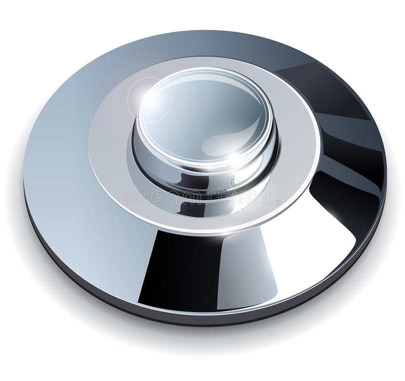 Download Chrome web button stock vector. Image of shinning, techno - 26271886