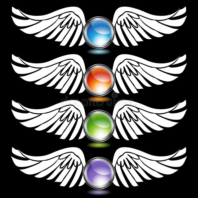 Download Chrome Wing Set stock vector. Illustration of background - 10153936