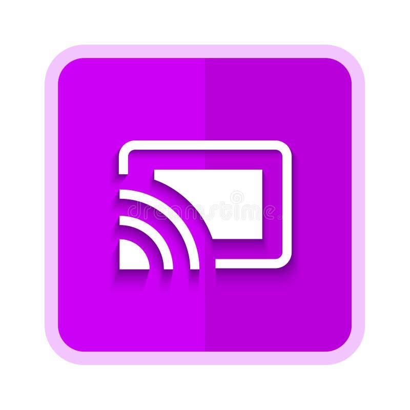 chromecast purple button royalty free illustration