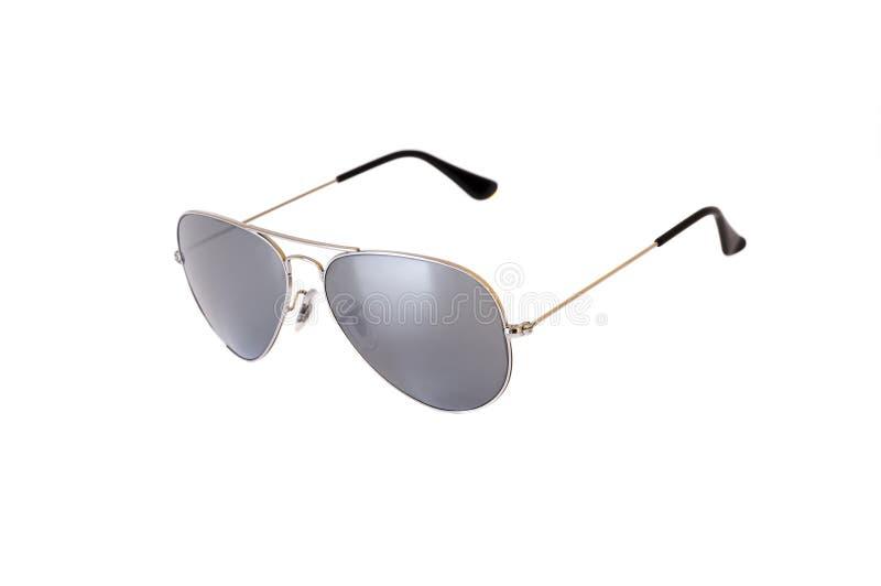 chromed изолированные солнечные очки белые стоковое фото