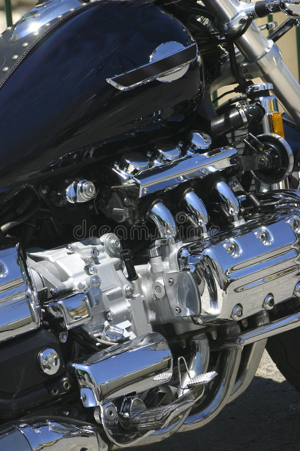 Download Chromed engine stock photo. Image of powerful, steel - 13077908