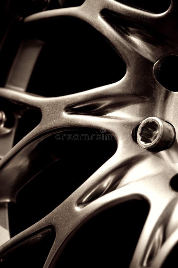 chromed navhjul fotografering för bildbyråer
