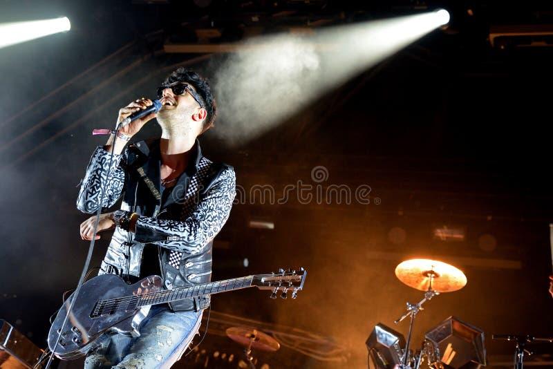 Chromeo (electro dúo del miedo) se realiza en el festival 2014 del sonido de Heineken Primavera fotos de archivo
