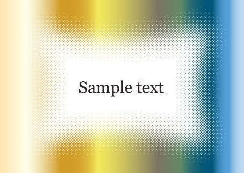 Chromhintergrundfeld bunt mit Beispieltext vektor abbildung