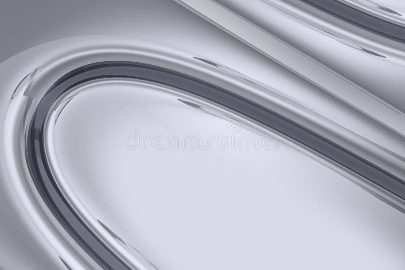 Chromierter Hintergrund 3D lizenzfreie abbildung