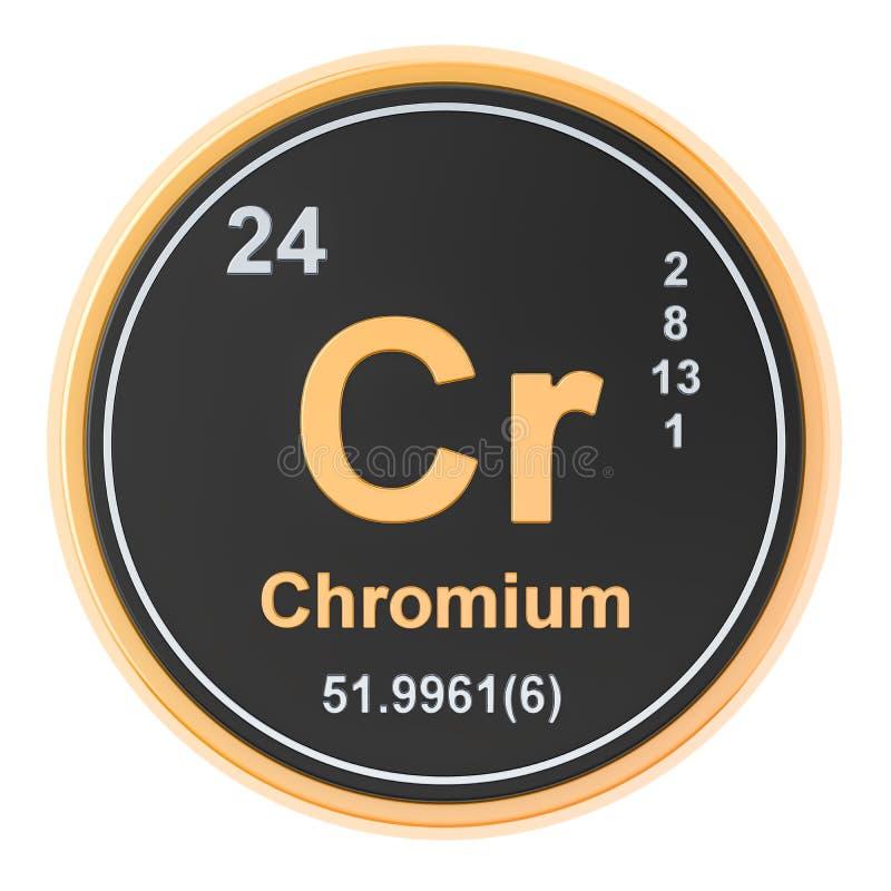 Chromium Cr chemiczny element świadczenia 3 d royalty ilustracja