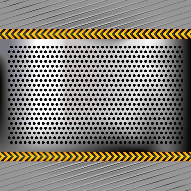 chromium metal uderzać pięścią powierzchnia ilustracja wektor