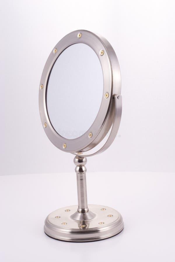 chromu lustrzany round stojak obrazy royalty free