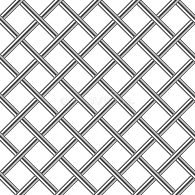Chromu metalu siatki diagonalny bezszwowy tło royalty ilustracja