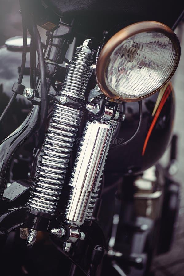 Chromu motocyklu klasyczny reflektor zdjęcia royalty free