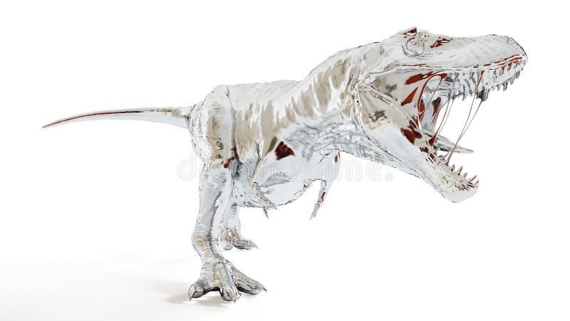 Chromu t-rex royalty ilustracja