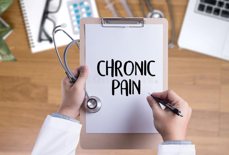 CHRONIC PAIN Healthcare modern medical Doctor concept stock images