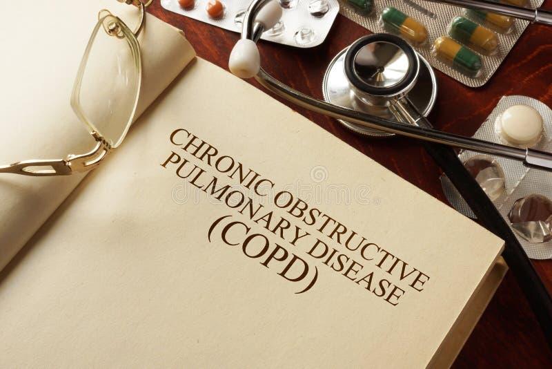 Chronische obstructieve longziekte (COPD) stock afbeelding
