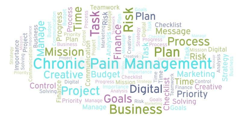 Chronische Schmerz-Managementwortwolke, gemacht mit nur Text vektor abbildung