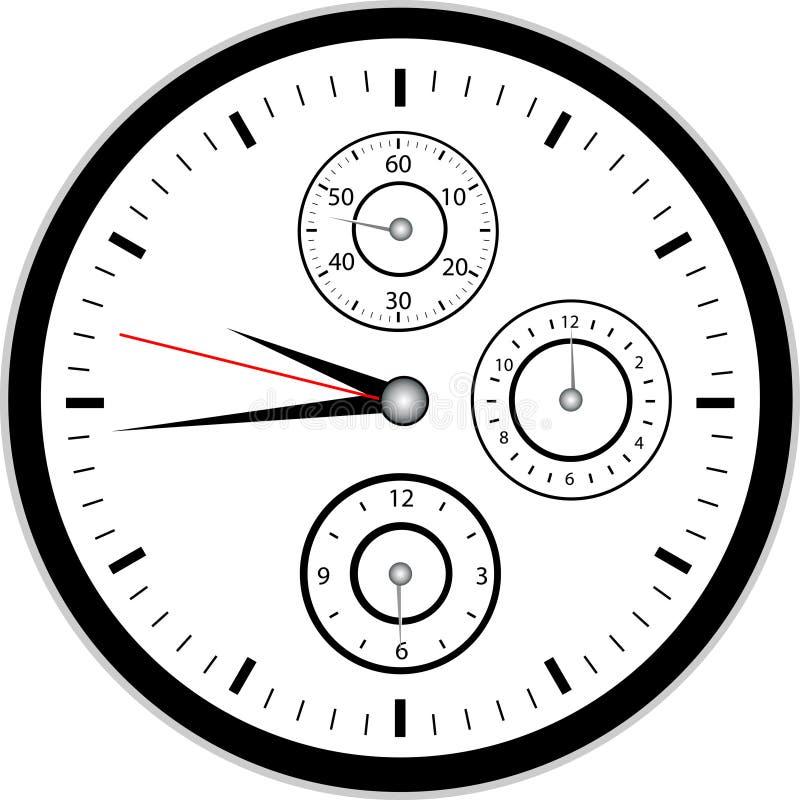 chrono вахта иллюстрация вектора