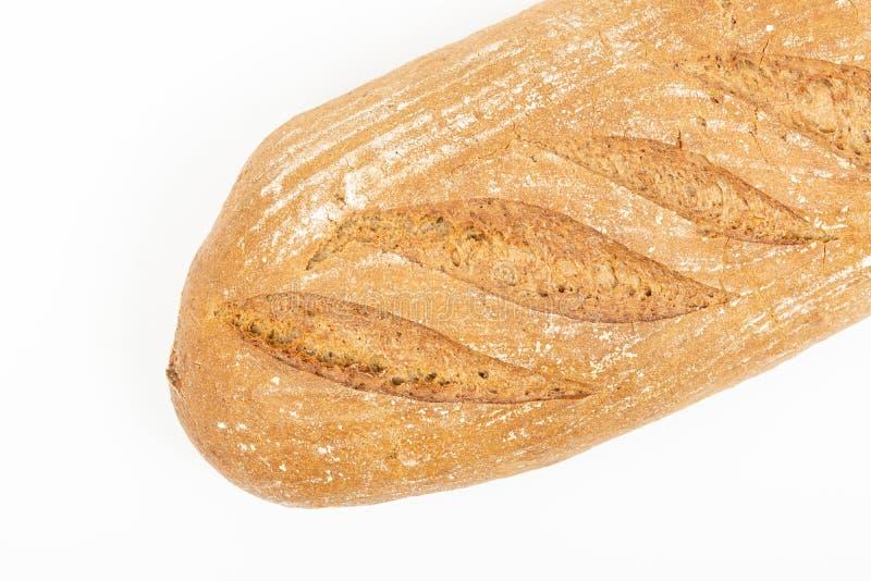 Chrono Gezond Brood dat boven Witte Achtergrond wordt ge?soleerd royalty-vrije stock afbeelding