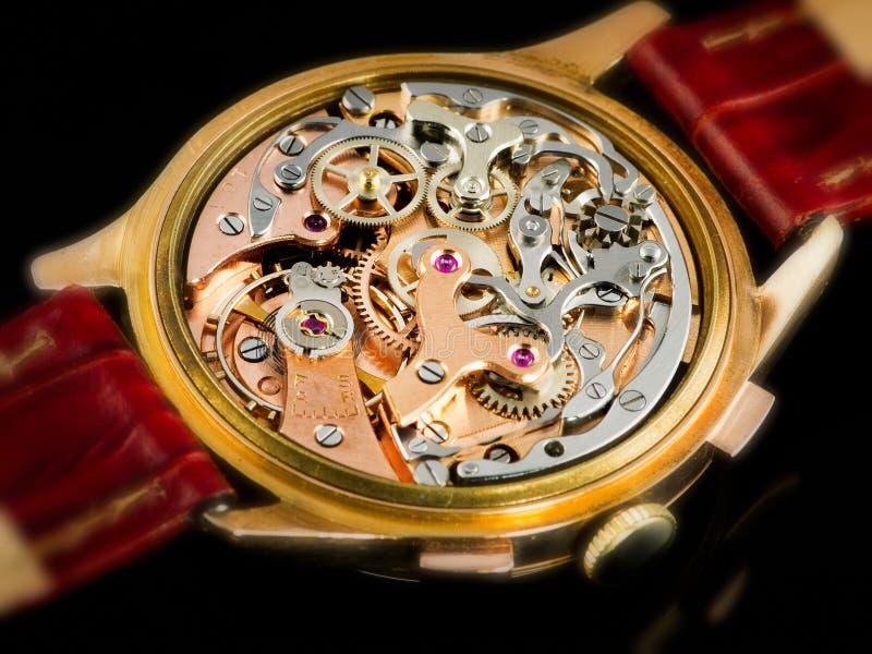 Chronographe Watch Movement - Valjoux 23 Stock Images