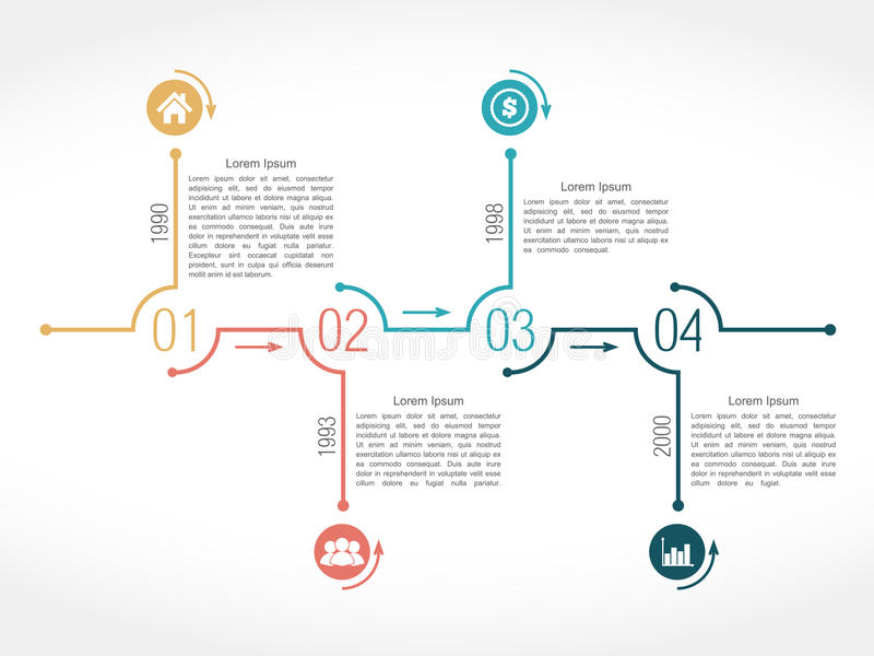 Chronologie royalty-vrije illustratie