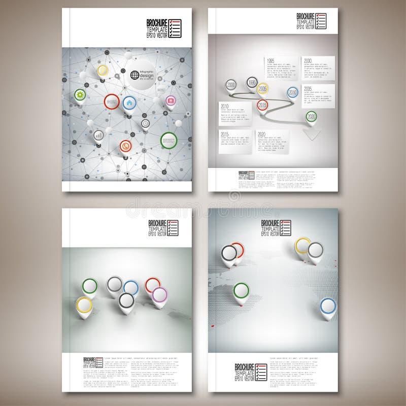 Chronologie, abstracte netwerk en wereldkaart met vector illustratie