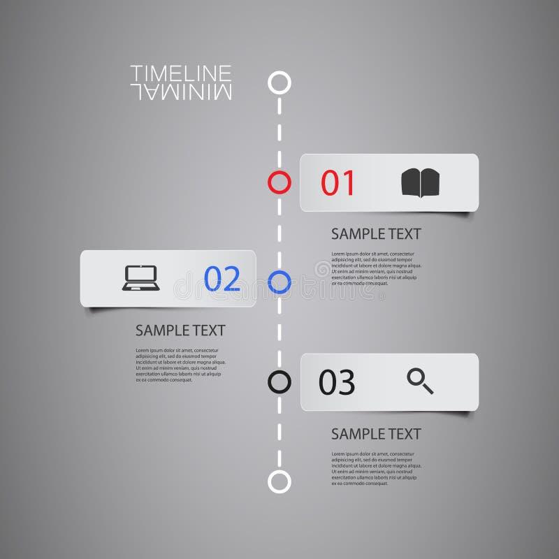 Chronologie d'Infographic de vecteur - rapportez le calibre de conception avec des labels illustration stock