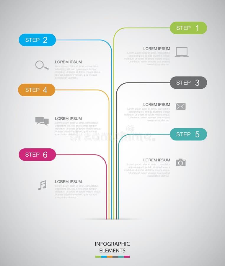 Chronologie Infographic illustration de vecteur
