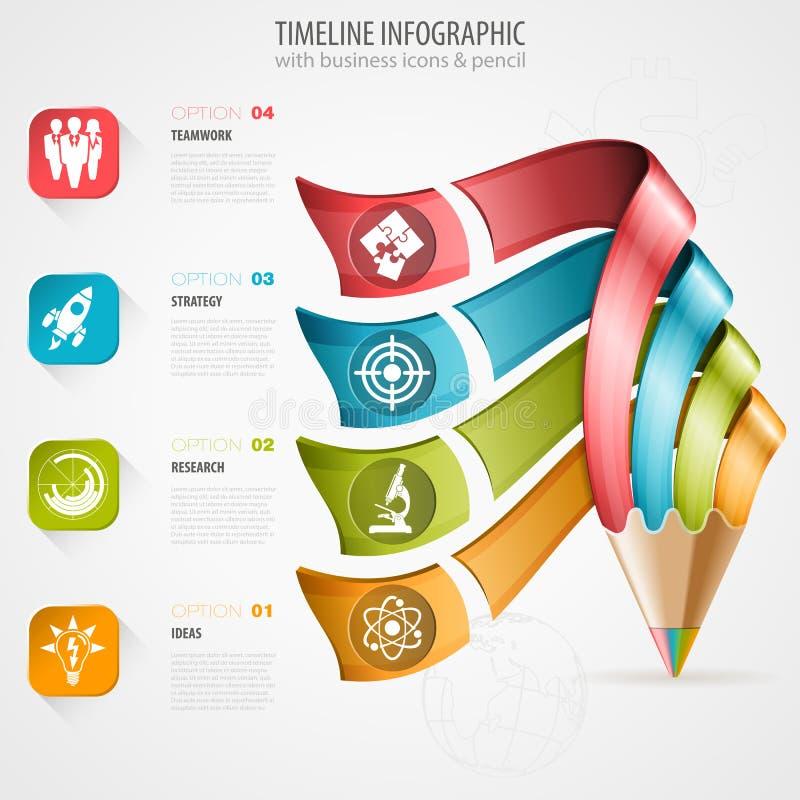 Chronologie Infographic illustration libre de droits