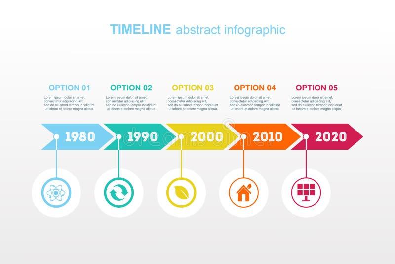 Chronologie Infographic Vector ontwerpmalplaatje royalty-vrije illustratie