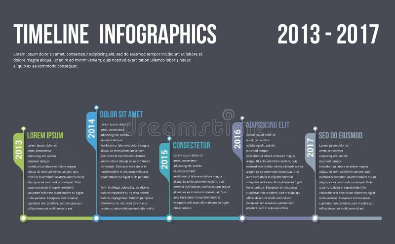 Chronologie Infographics illustration de vecteur