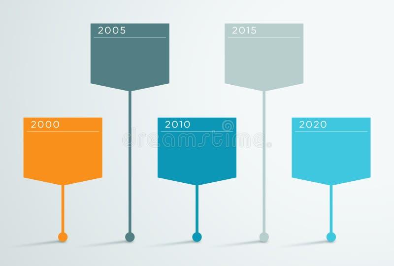 Chronologie Vector 3d Infographic 2 stock illustratie