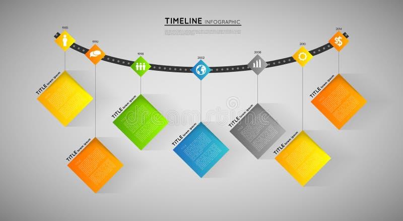 Chronologiemalplaatje stock illustratie