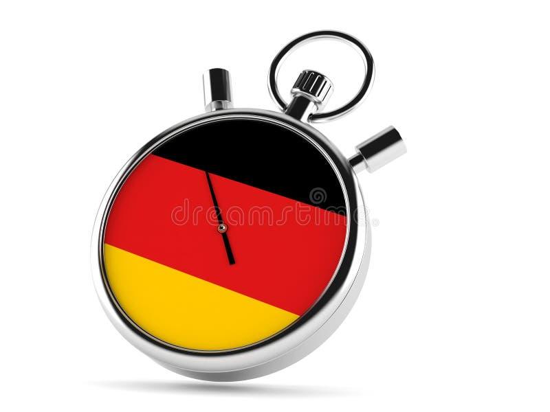 Chronomètre allemand illustration stock