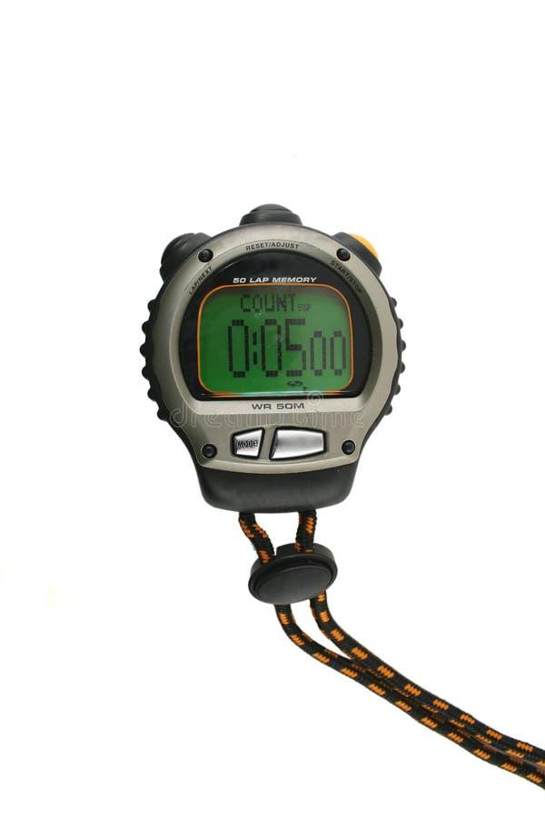 Chronomètre allumé photo libre de droits