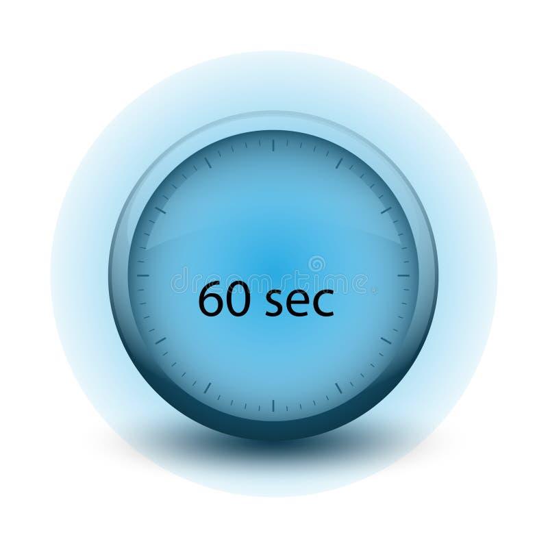 Chronomètre avec du temps de expiration icône de Web de 60 secondes illustration de vecteur