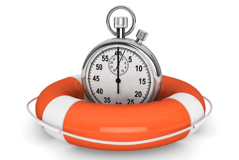 Chronomètre avec la bouée de durée illustration stock