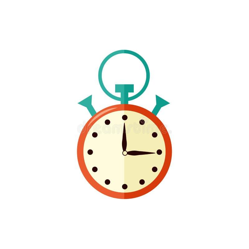 Chronomètre avec la flèche à quinze secondes d'isolement sur le fond blanc illustration libre de droits