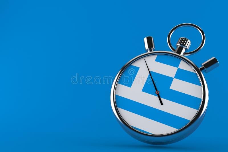 Chronomètre avec le drapeau grec illustration de vecteur