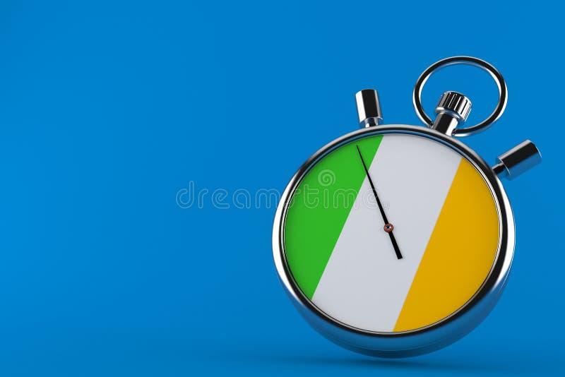 Chronomètre avec le drapeau irlandais illustration libre de droits