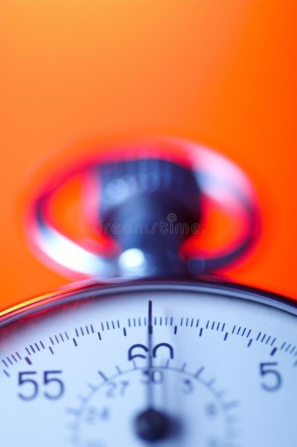 Chronomètre de chrome image stock