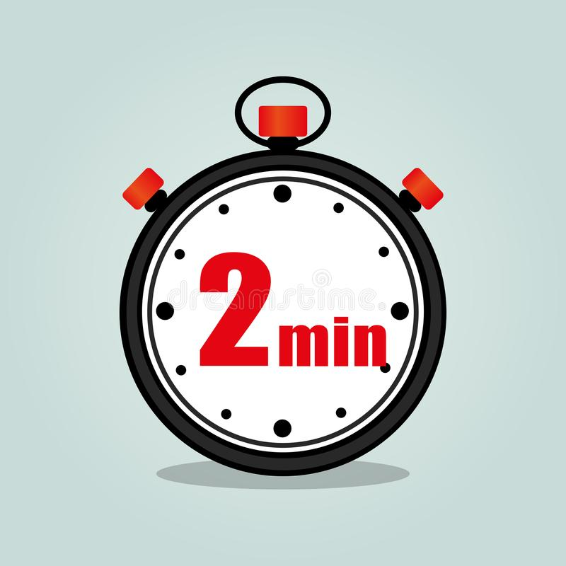 Chronomètre de deux minutes illustration libre de droits